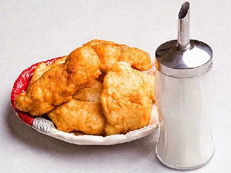 Бързи домашни дебели точени мекици с мая и сода (бакпулвер) - снимка на рецептата